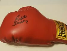 """Roberto Duran """"Hands Of Stone"""" Autograph Boxing Glove Signed Red Everlast Champ"""