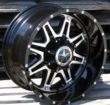 "20"" Black CNC Face Lonestar Outlaw Wheels 20x10 5x5.5 5x5 -25 Ram 1500 Wrangler"