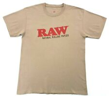 Raw Natural Rolling Papers Tee Brown Size Medium Mens T Shirt