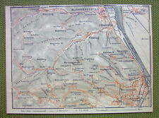 AUSTRIA Heiligenstadt Klosterneuburg & Environs - 1911 MAP ORIGINAL Baedeker