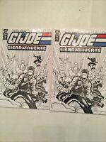 2 G.I. JOE: SIERRA MUERTE #1 RARE LIMITED RETAIL EXCLUSIVE SKETCH VARIANTS 2/325
