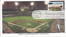 MYSTIC STAMP FIRST DAY COVER - 2001 LEGENDARY PLAYING FIELDS ISSUE COMISKEY PARK