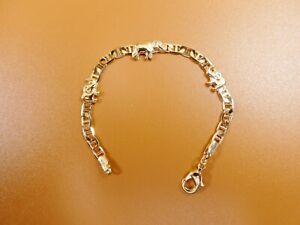 5.5 INCH 18K GOLD FILLED MARINER ELEPHANT BOY OR GIRL BABY BRACELET