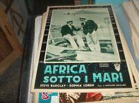 Africa Sotto the Seas Fotobusta Small Original 1953 S.Barclay S.Loren Type IN