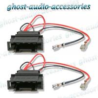 Volkswagen Golf 1998 - 2005 Speaker Adaptor Plug Leads Connector Cable Pair