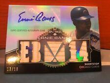 2012 Topps Triple Threads Ernie Banks Auto & 5 Bat Pieces #'d 18