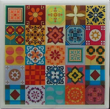 New listing Natural Stone Ceramic Tile Marble Drink Coasters - Set of 4 - Mexican Tile 6 H