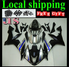Fairing Silver Black Injection Kit Fit for YAMAHA YZF R1 2004-2006 Molded j021