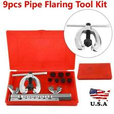 10PC Metric Double Pipe Flaring Tool Kit Mechanic Brake 5/6/8/10/12/14/16mm.