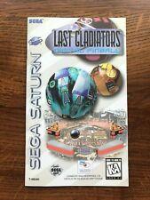Last Gladiators Digital Pinball Sega Saturn Game Instruction Manual Only