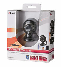 TRUST 16429 SPOTLIGHT WEBCAM, INTEGRATED MICROPHONE, LIGHTS + DIMMER, CLIP