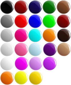 Plain Various Colour BUTTON PIN BADGES 25mm 1 INCH School Game Merit Team Blank