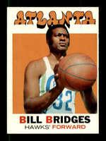 1971-72 Topps #132 Bill Bridges NM/NM+ Hawks DP 127572