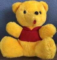 Vtg knickerbocker Yellow Teddy Bear Animals Of Distinction plush looks like Pooh