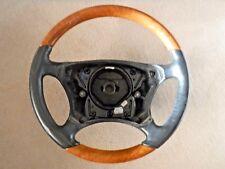 Mercedes w220 S500 S430 S600 Chestnut wood / black leather steering wheel