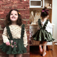 Lovely Toddler Kids Baby Girls Party Strap Suspender Skirt Overalls Dress Outfit
