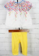 Baby Gap Floral Peasant Short Sleeve Top Shirt + Leggings Outfit Baby Girl 3-9M