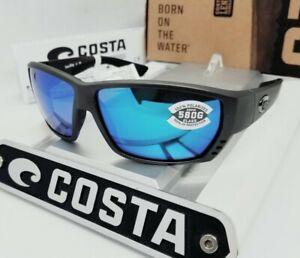 """580G COSTA DEL MAR steel gray/blue mirror """"TUNA ALLEY"""" POLARIZED sunglasses NEW!"""