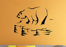 Polar Bear Wall Decal Wild Animal Vinyl Sticker Nature Atr Home Mural Decor 13br