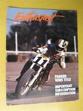HARLEY DAVIDSON ENTHUSIAST MOTORCYLE MAGAZINE SPRING 1989 SCOTT PARKER MS HARLEY