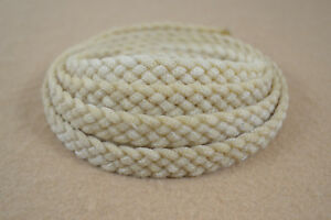 "Braided Wax Nylon Strip - 1/2"" x 8' - 5 Plat (H44)"