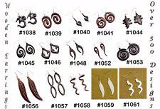 30pcs Wood Coconut Bohemian Tribal USA Wooden Dangler Earrings Wholesale Lot