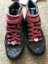 Black And Pink Playboy High Top Trainers Size 6.5