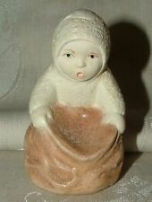 Older Vintage SNOWBABY Snow Baby Figurine with Open Sack
