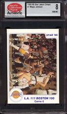 1985-86 STAR CO. LAKERS CHAMPS #7 MAGIC JOHNSON IA (GAME 6) HOFer SCD 8 NM/MT