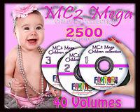 MC2 Mega Children Digital Photo Backgrounds Backdrops Template Frame Mask Border