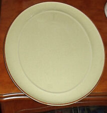 DENBY GREEN WITH BROWN TRIM OVAL SERVING PLATE