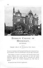 1912 Eversley College Housecraft Southport Strathearn Edinburgh School Ad