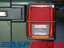 Jeep Wrangler JK 07- Rückleuchtenschutz Edelstahl/Schwarz