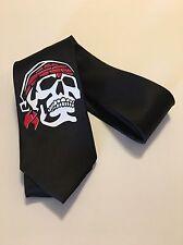 Skull Necktie, Super Cool , Great Quality Black Tie