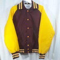 Vintage Burgundy Gold Nylon NEFF Jacket Snap Up Mens M Hipster Greenville, OH