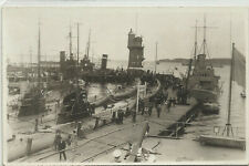 rppc - Military - Submarines - In Port - Other Boats -Europe Wwi