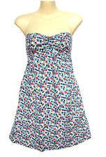 NEW HOLLISTER WOMENS LINED DRESS SUN SUMMER TUNIC GOWN TUBE STRAPLESS TOP SZ M