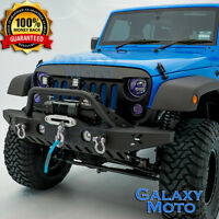 Rock Crawler Front Bumper+Fog Light Hole+Skid Plate fit 07-18 Jeep Wrangler JK