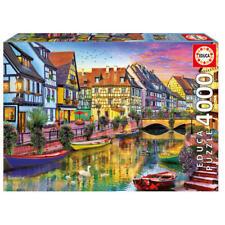 Puzzle 4000 partes - canal en Colmar Francia von educa