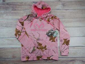 Womens Realtree Xtra Pink Hoodie Hunting Sweatshirt Small