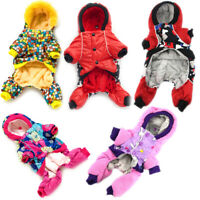 Pet Dog Clothes Winter Waterproof Jumpsuit Warm Fleece Puppy Dog Cat Hoodie Coat