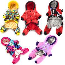 Winter Warm Fleece Dog Jumpsuit Hoodie Jacket Puppy Cat Coat Pet Overalls Outfit