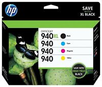 GENUINE HP 940XL 940 Ink Cartridge 4-Pack for Officejet pro 8000 8500