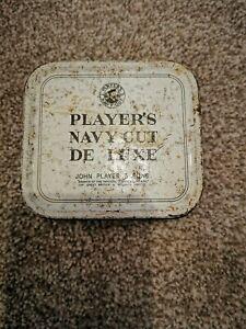 Vintage PLAYERS NAVY CUT De Luxe Tobacco Tin (Empty)