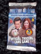DOCTOR WHO, MONSTER INVASION CARDS, UN-OPENED/SEALED PACK (9 CARDS), OFFICIAL.