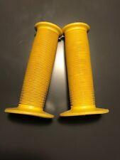 "80's Toadstool Old School BMX Bike Grips- Yellow 7/8"""