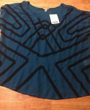 Urban Outfitters Ecote Nwt Womens Blue Top Sheer Front Size Large