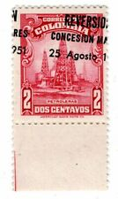 COLOMBIA - OIL CONCESSION - 2c W/ OVERPRINT ERROR - 1951 - Sc 596v RRR