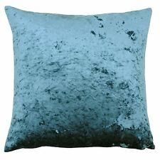 "DEEP PILE CRUSHED VELVET TEAL SOFT 22"" - 55CM CUSHION COVER"