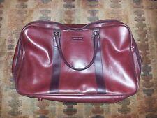 Vintage 70s New Vista Burgundy/Red Vinyl Airline Travel Carry On Bag